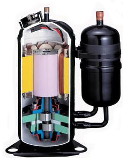 Toshiba dvojni batni rotacijski kompresor
