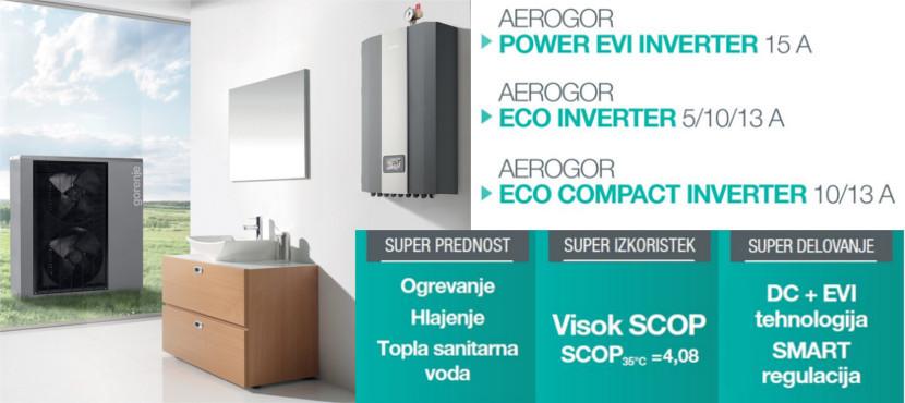 Aerogor Eco inverter tolpotne črpalke