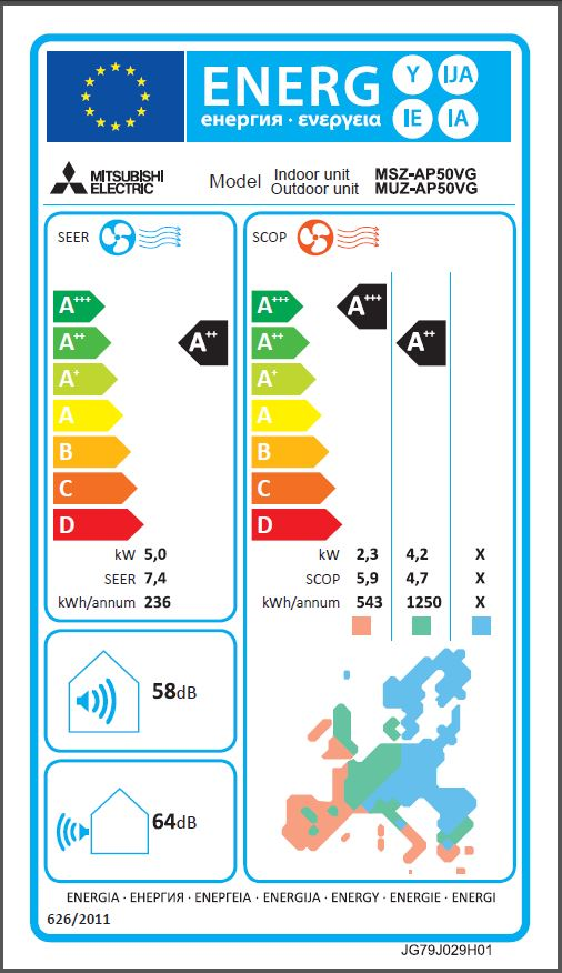 MSZ-AP50VG_energijska_nalepka