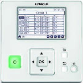 Hitachi PC-ARFHE uporabniški vmesnik