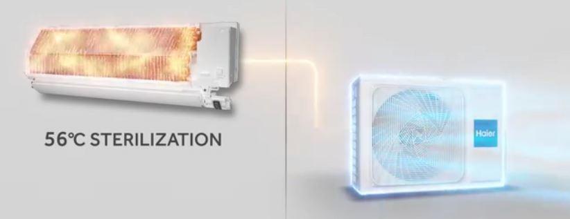 Haier 56°C sterilizacija